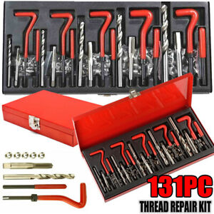 Helicoil Kit 131 Pcs Thread Repair Kit M5 M6 M8 M10 M12 Twist Drill Heli Coil