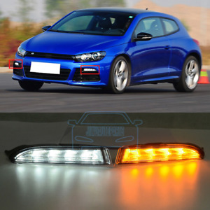 Led Drl Fog Lamp Driving Daytime Running Lights Fit For Vw Scirocco R 2011 2014