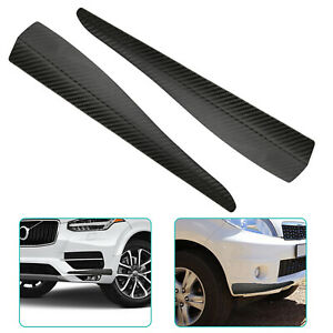 2pcs Universal Car Front Rear Carbon Fiber Bumper Corner Protector Lip Guard