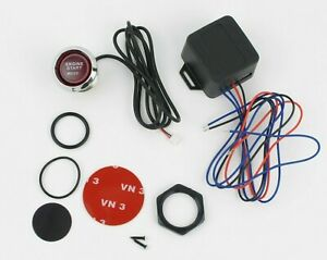 12v Red Led Car Keyless Engine Start Push Button Switch Ignition Starter Kit