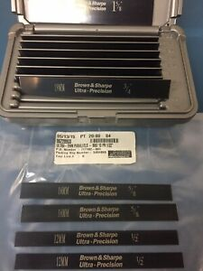 Brown Sharpe Ultra thin Parallels 599 921 20 6 lx1 2 1 5 8 h X 032 10 sets