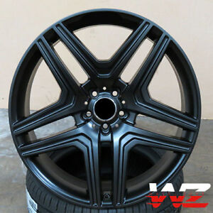 22 Double 5 Spoke Style Satin Black Wheels Fits Mercedes Amg Ml300 Ml63 Gl63