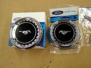 Nos Oem Ford 1969 Mustang Fastback Roof Side Ornaments Emblems Mach 1