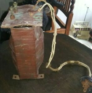 Antique Electric Motor Transformer Very Interesting Almost 8 Lbs Coil