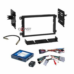 Car Radio Stereo Dash Kit Onstar Bose Harness For 2000 up Gm Gmc Chevrolet Cad