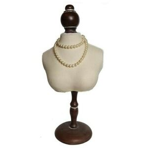 Fabric Covered Mini Bust Necklace Display