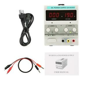 30v 5a Adjustable Dc Power Supply Variable Dual Led Display Digital Lab Test Us