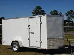 New 6x12 6 X 12 V nose Enclosed Cargo Trailer W Ramp