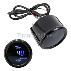2 52mm Blue Digital Led Fahrenheit Water Temp Temperature Gauge Black