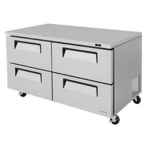 Turbo Air Tur 60sd d4 n 60 In 4 drawer Undercounter Refrigerator