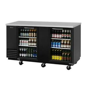 Turbo Air Tbb 3sg n 69 In Back Bar Cooler W 2 Glass Doors