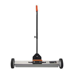 30in Telescopic Rolling Magnetic Sweeper Pickup Tool Push Broom Floor Cleaner