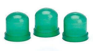 Autometer Light Bulb Boots Covers Set Of 3 Green Glow