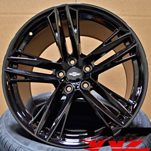 20 Gloss Black Staggered Wheels Rims 2018 Zl1 1le Style Fits Chevrolet Camaro