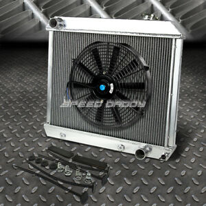 3 Row Aluminum Radiator 1x 16 Fan Black For 61 66 Chevy Truck C K Pontiac Pickup