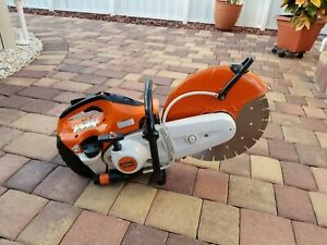 Stihl Ts420 Gas Concrete Cut off Saw W New 14 Diamond Disk