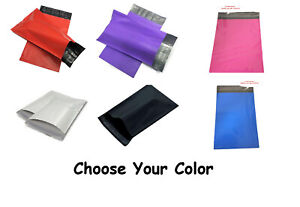 14 5x19 Poly Mailers Shipping White Black Pink Purple Red Free 2 Day Shipping