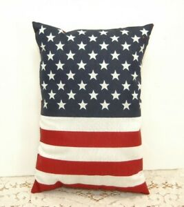 American Flag Pillow Red White Blue Stars Stripes Usa Primitive 8 X 11