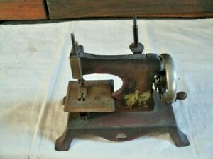 Antique Toy Sewing Machine Red Riding Hood Motif