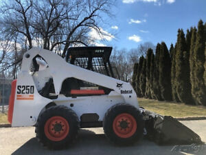 2005 Bobcat S250 Rubber Tire Skid Steer Loader Diesel Bob Cat Wheel Skidsteer
