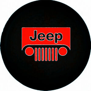 Spare Tire Cover 17inch For Jeep Wrangler Liberty Dust Protector 32 33 Red