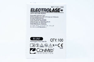 Conmed 7 101 12bx Electrolase Blunt Tips Disposable Hyfrecator Tips Box Of 100