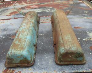 1958 Cadillac Valve Covers Pair Coupe Dedan 365 Motor