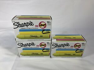 Sharpie Chisel Tip Tank Style Highlighters Yellow 12 Packs Missing 1 Total 35