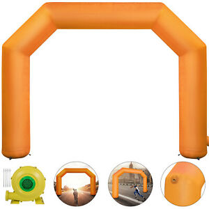 Orange Inflatable Arch 19 5ft Outdoor Advertising 4 Ropes 1 Min Inflation Ox