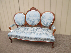 57890 Antique Victorian Sofa Loveseat Couch Biedermeier Period