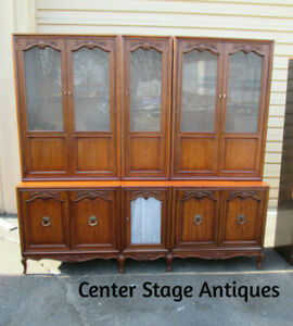 57769 Henredon Breakfront China Cabinet Lighted Curio Quality 7 Section Unit