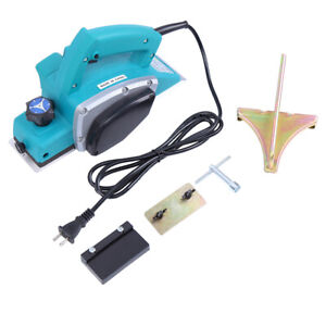 800w Electric Wood Planer Door Plane Hand Held Woodworking Power Surface Machine