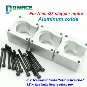 3pcs Nema23 Stepper Motor Mounts Bracket Installation Support 57 Aluminium Oxide