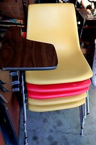Mid Century Modern School Desk Chair With Tray Vintage Writing Krueger Desk