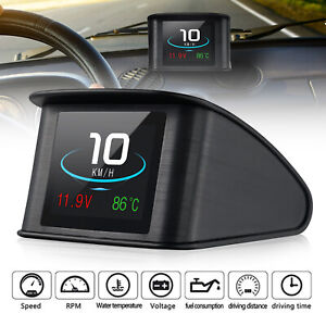 Universal Digital Car Speedometer Hud Head Up Display Mph Km Overspeed Alarm