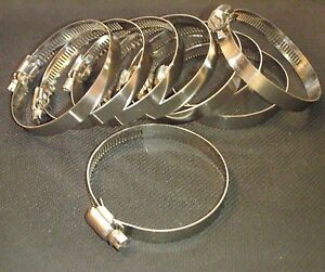 10 Pc 316 Stainless Hose Clamps 1 7 8 2 1 2 Range 46 70hc