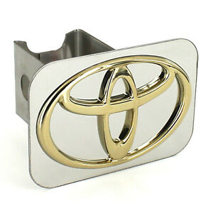 Toyota Gold Logo Tow Trailer Hitch Cover Plug