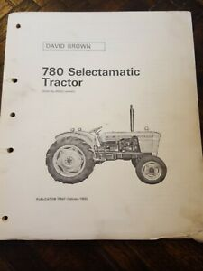 Original David Brown 780 Selectamatic Tractor Parts Catalog Manual