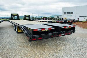 Gator Made Hot Shot Freight Flat Bed Air Ride Goose Neck Gator Made Trailer