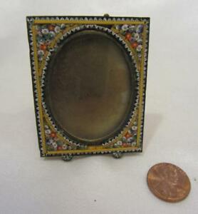 Antique Micro Mosaic Miniature Picture Frame 2 1 4 X 1 3 4 Italy Multicolor
