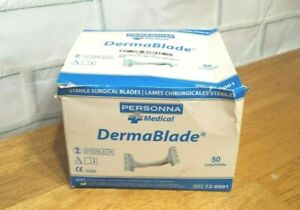 Sterile Surgical Blade Dermablade Personna Medical 72 0001 Box Of 50 10 19