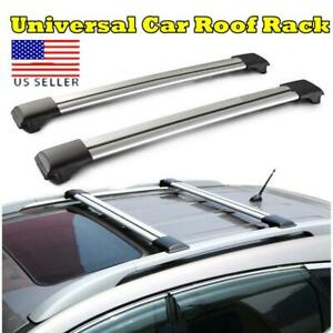Universal Car Luggage Cargo Roof Rack Cross Bar Carrier Adjustable Lock Kits