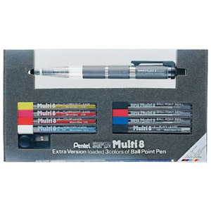 Pentel Super Multi 8 Automatic Mechanical Pencil Set ph803st