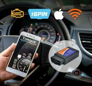 Wifi Obd2 Obdii Car Auto Diagnostic Scanner Tool Adapter For Iphone Android Pc