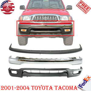 Front Chrome Bumper Air Deflector Valance Kit For 2001 2004 Toyota Tacoma