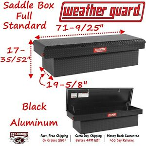 300105 53 01 Weather Guard Defender Black Aluminum Saddle Box 71 Truck Toolbox