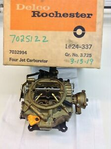 Nos Rochester 4gc Carburetor 7025122 1959 1965 Chevy 283 327 350 Engines