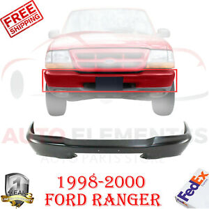 Front Bumper Styleside Primed Steel W O Pad Hole For 1998 2000 Ford Ranger 1pc