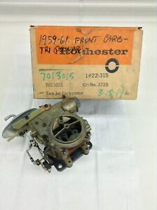 Nos Rochester 2g Carburetor 1959 Chevy 348 Tri Power Front Carburetor Rare
