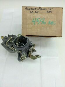 Nos Carter Rbs Carburetor 4556s 1963 1964 Ford Falcon Fairlane 170 200 Engine